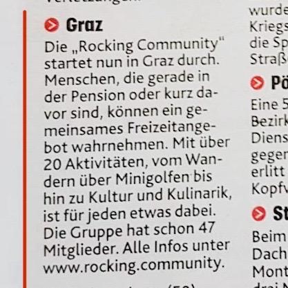 Beitrag Thr Rocking Community Kronenzeitung Graz